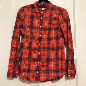 J. Crew The Perfect Shirt Plaid Top